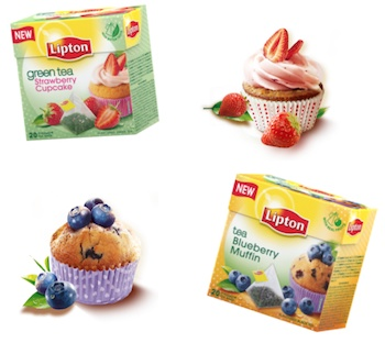 Lipton-tea-Strawberry Cupcake-Blueberry Muffin