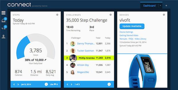Garmin Vivofit app