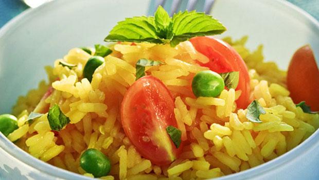 Πιλάφι με σαφράν και λαχανικά