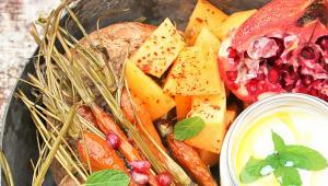Ψητά Λαχανικά με Ρόδι
